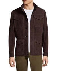 Ermenegildo Zegna - Suede Field Jacket - Lyst