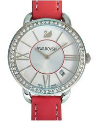 Swarovski Leather Watch - Multicolor