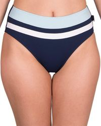 Shan Balnea Napoli High-waist Bikini Bottom - Blue