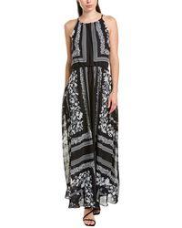 Julia Jordan - Scarf Print Chiffon Halter Dress - Lyst