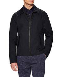 Vince Bonded Leather Trim Jacket - Black