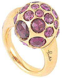 Pomellato 18k Rose Gold Rhodolite Ring - Pink