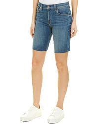 7 For All Mankind 7 For All Mankind High Waist Blue Bermuda Short