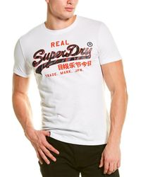 Superdry Vintage Logo Camo T-shirt - White
