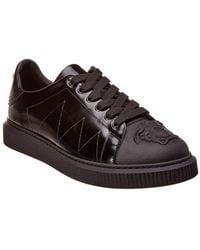 Versace Patent Trainer - Black