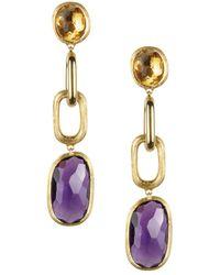 Marco Bicego Murano 18k Gemstone Drop Earrings - Metallic