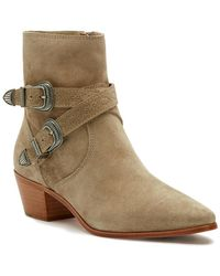 Frye Ellen Buckle Short Boot - Brown