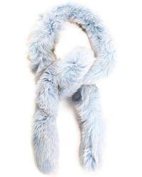 Dior Limited Edition Pale Blue Fox Fur Scarf, Nwt