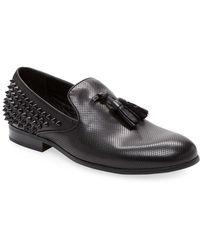 Saks Fifth Avenue - Studded Leather Tassel Loafer - Lyst