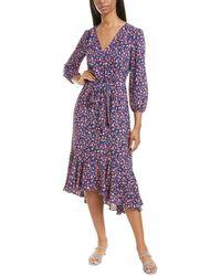 J.Crew Floral Ramea Maxi Dress - Blue