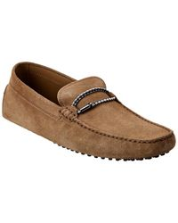 Tod's Gommino Suede Loafer - Brown