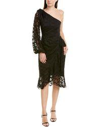Keepsake Retrospect One-shoulder Midi Dress - Black