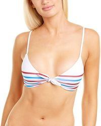 Chaser Tie-front Bikini Top - White