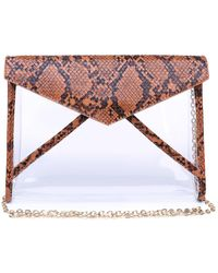 Urban Expressions Kinsley Snake Clutch - Brown