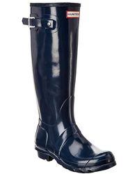 HUNTER Original Tall Gloss Boot - Blue
