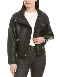 Bagatelle Dolman Leather Jacket - Black