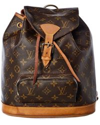 Louis Vuitton Monogram Canvas Montsouris Backpack Mm - Brown