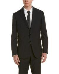 Ermenegildo Zegna Z Zegna Wool Suit With Flat Front Pant - Black