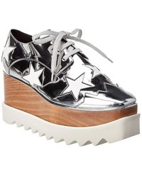 Stella McCartney Elyse Star Cut-out Platform Oxford - Metallic