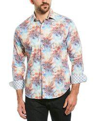 Robert Graham Bakemeyer Classic Fit Woven Shirt - Blue