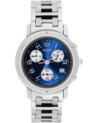 Hermès Hermes Clipper Chrono Watch, Circa 2000s - Metallic