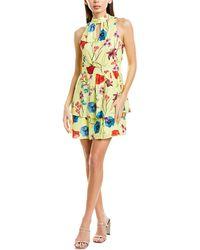 Parker Keyhole A-line Dress - Yellow