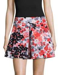 RED Valentino Floral Mini Skirt - Red