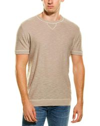 Forte Crewneck Jumper T-shirt - Natural