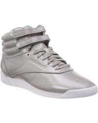 Reebok Hi Iridescent Suede Sneaker - Gray