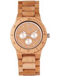 Earth Wood Men's Bonsai Watch - Metallic