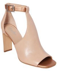 Charles David Gabe Leather Sandal - Natural