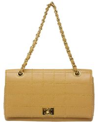 Chanel Tan Quilted Grained Caviar Leather Wild Stitch Large Single Flap Bag - Multicolor