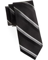 Saks Fifth Avenue - Wide Textured Silk Tie - Lyst
