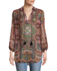 Alice + Olivia - Sterling Paisley Print Top - Lyst