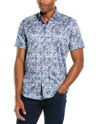 Robert Graham Shaw Tailored Fit Woven Shirt - Blue