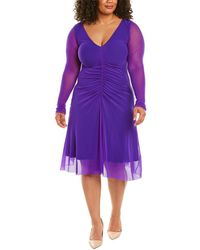 Fuzzi Plus Midi Dress - Blue
