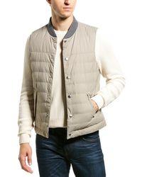 Brunello Cucinelli Feather Puffer Vest - Gray