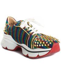 Christian Louboutin - Leather Rainbow Stud Sneaker, Size 12 - Lyst