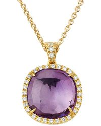 Marco Bicego Jaipur 18k 0.24 Ct. Tw. Diamond & Amethyst Pendant - Multicolor