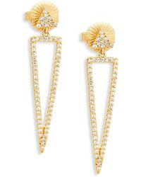 Freida Rothman - Pavé Crystal And Sterling Silver Drop Earrings - Lyst