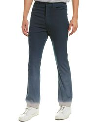 Lanvin Overdyed Fit 5-pocket Wool Pant - Blue