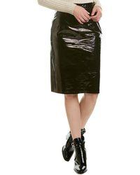 Walter Baker Molli Patent Leather Skirt - Black