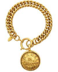 Chanel Gold-tone Cambon Coin Bracelet - Metallic