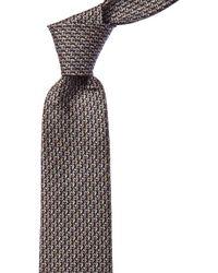 Ferragamo Seahorse Silk Tie - Multicolour