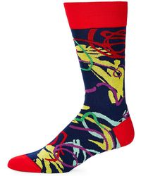 Bugatchi - Multicolored Geometric Socks - Lyst