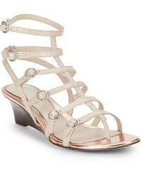 Elie Tahari - El-troy Gladiator Wedge Sandals - Lyst
