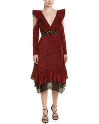Self-Portrait A-line Dress - Red