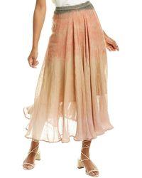 Mes Demoiselles Carroll Linen Maxi Skirt - Brown