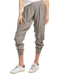 ATM Anthony Thomas Melillo Pull-on Silk Pant - Gray