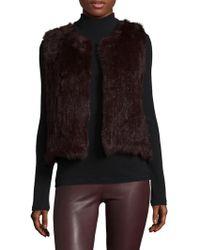 525 America - Rabbit Fur Vest - Lyst